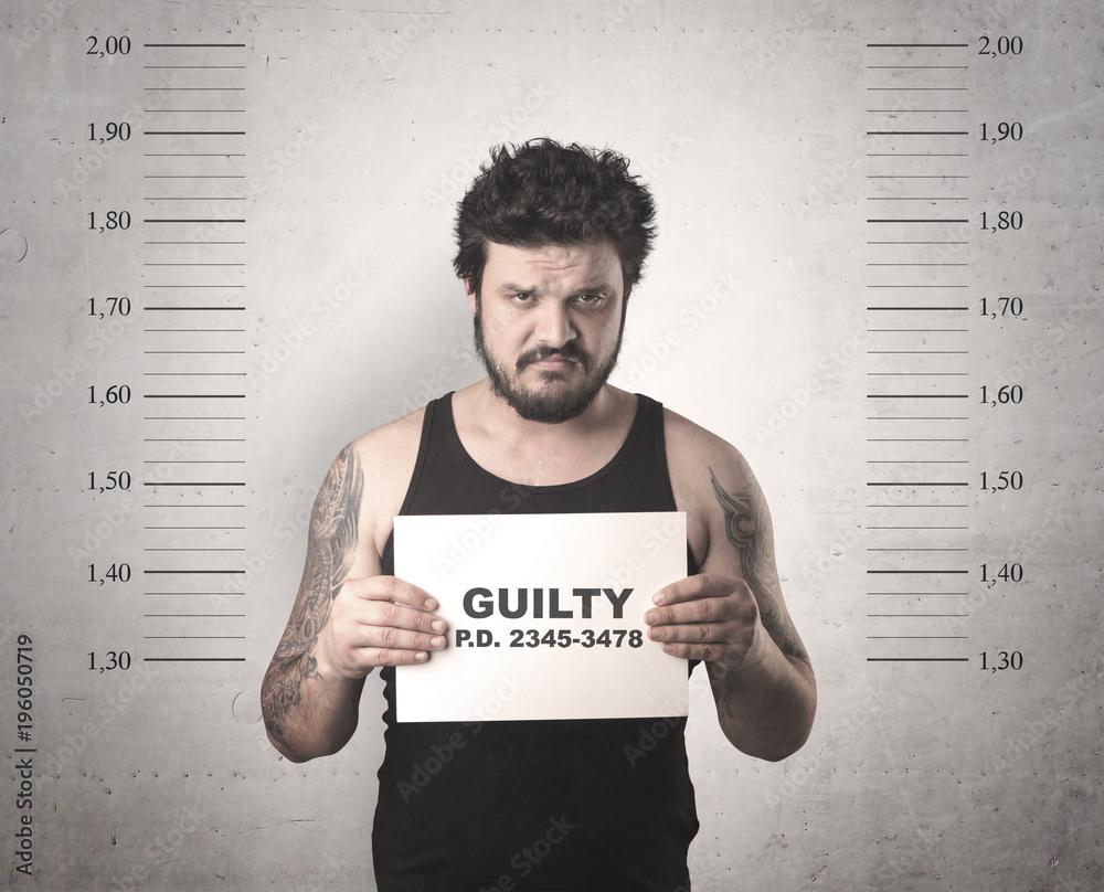 Fototapeta Criminal offender.