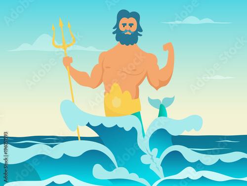 Obraz na plátně Poseidon Greek god of the sea
