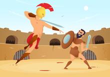 Spartan Warriors Fighting In G...