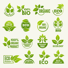 Logos Of Eco Style. Business C...