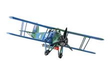 Blue Plastic Biplane Isolated ...