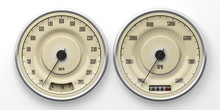 Vintage Car Gauges Isolated On...