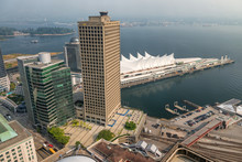 Aerial View Of Canada Place In...