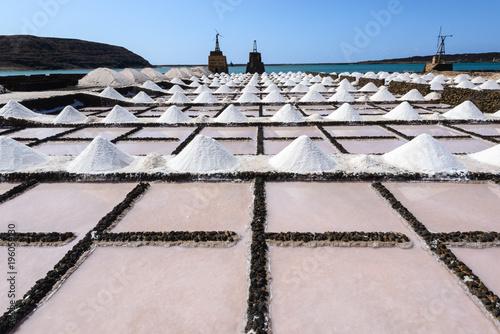 Tuinposter Canarische Eilanden Salt works of Janubio, Lanzarote, Canary Islands