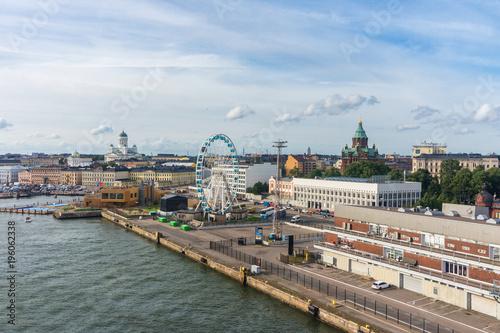 Deurstickers Canarische Eilanden Cityscape of Helsinki. View from sea
