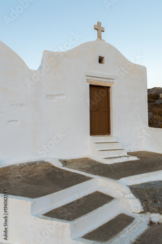 Photo A small chapel on top oh the mountain at Amorgos island
