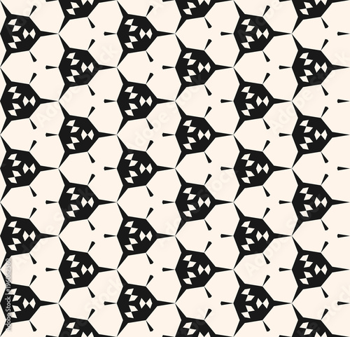 Abstract Geometric Seamless Pattern With Angular Shapes Hexagonal