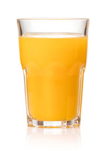 Fresh Juice In Glass Isolated ...