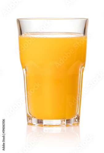 fresh juice in glass isolated on white background