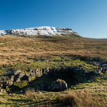 View On Snowcapped Pen-y-Ghent...