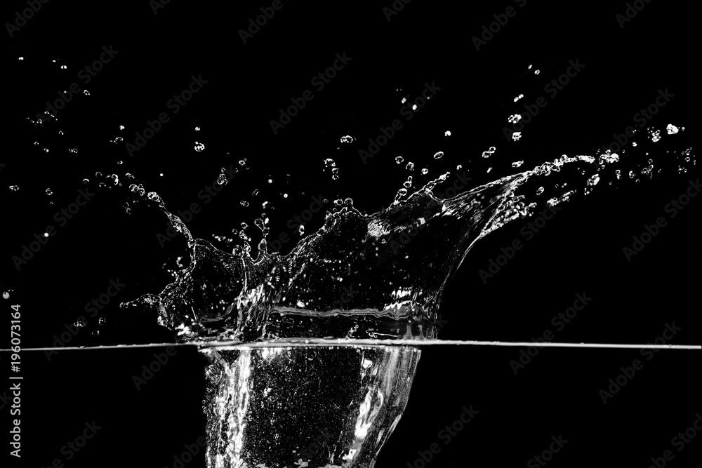 Fototapety, obrazy: water splash on black