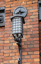 Wrought-iron Lamp On The Wall
