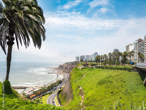 Photo Stands South America Country View of la Costa Verde coast in Lima