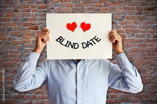 Young man prepared for a blind date Wallpaper Mural