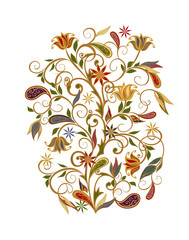 FototapetaBouquet of fantastic flowers. Background in ethnic traditional style.