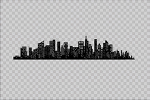 The Silhouette Of The City In ...