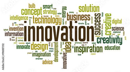 Fotografia, Obraz  Innovation word cloudi