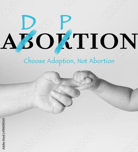 Photo Abortion VS. Adoption