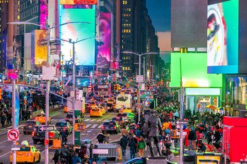 Panel Szklany Nowy York Times Square, iconic street of Manhattan in New York City
