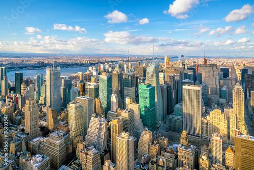 Keuken foto achterwand New York Aerial view of Manhattan skyline, New York City