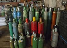 Steel Bottles Of Compressed Ga...