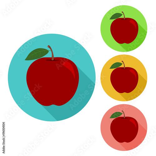 Fototapeta apple icon. flat apple icon.
