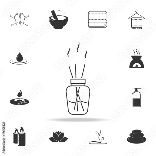 Photo  Aroma sticks in bottle icon