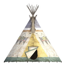 Indian Teepee Tent Isolated On...