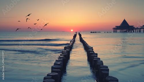 Deurstickers Kust magisches Licht an der Ostsee