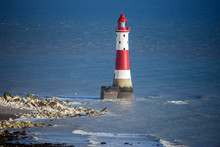 View Of Beachy Head Lighthouse, Eastbourne, East Sussex, England
