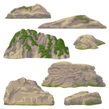Rocks, Hills And Stones Isolated
