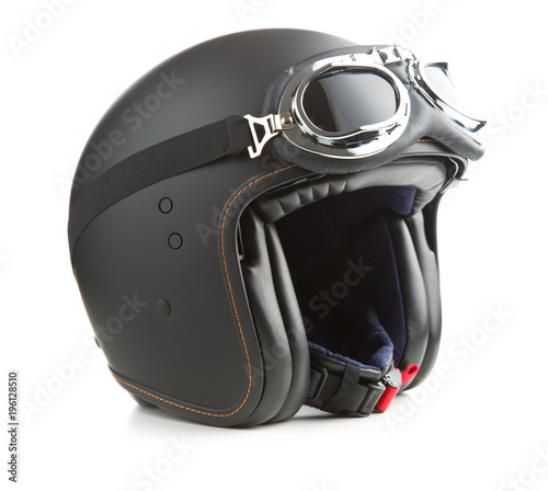 Tuinposter Scooter Open face motorcycle helmet.