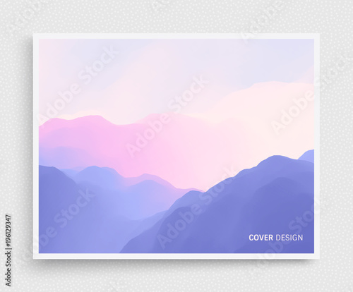 Fotografía Cover design template