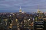 Fototapeta Nowy Jork - Ausblick vom Rockefeller Center am Abend, Manhattan, New York City, New York, USA, Nordamerika