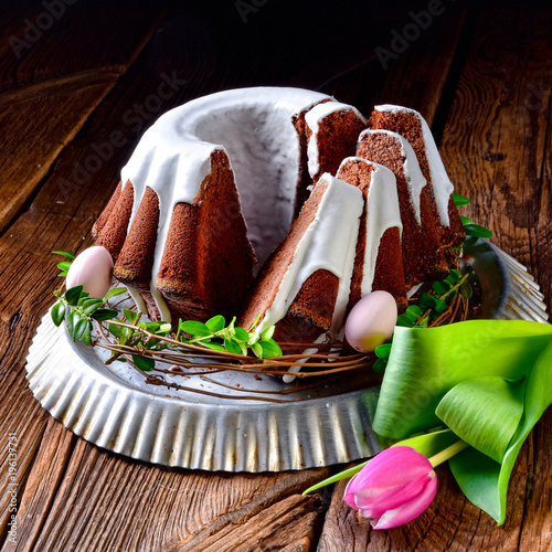Plakat pyszny tort czekoladowy