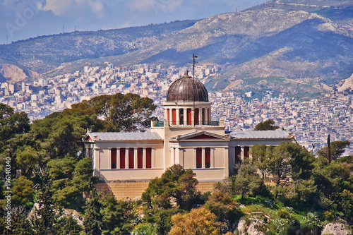 Athens Greece, the old national observatory neoclassical bulding Wallpaper Mural