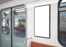 Blank Poster On A Train