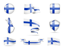 Finland Flags Collection. Flag...
