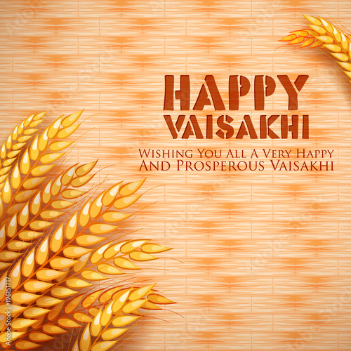 Happy Vaisakhi Punjabi spring harvest festival of Sikh celebration background Tapéta, Fotótapéta