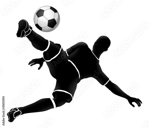 Soccer Player Football Sports Silhouette Wallpaper Mural