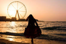 Girl On The JBR Beach With Ain...