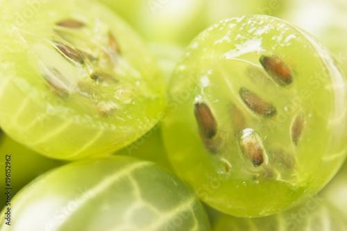 Foto op Aluminium Vruchten sliced gooseberry