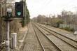 green light on train rails