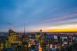 Skyline von New York City im Sonnenuntergang