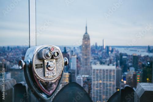 Photo New York City - Ausblick von Rockefeller Center mit historischem Fernglas