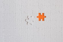 White Details Of Jigsaw Puzzle...