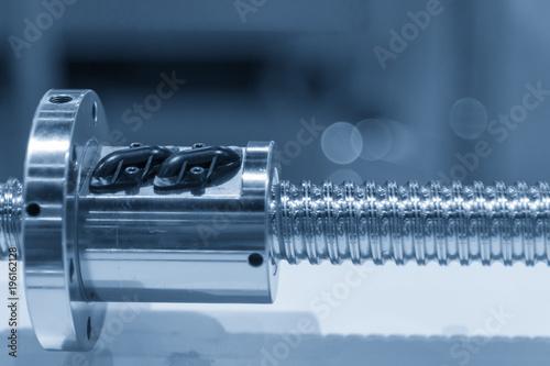 Fotografia, Obraz  The lead screw shaft spare part of CNC machine.