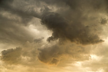 Storm Clouds In The Sky At Sunset As Background