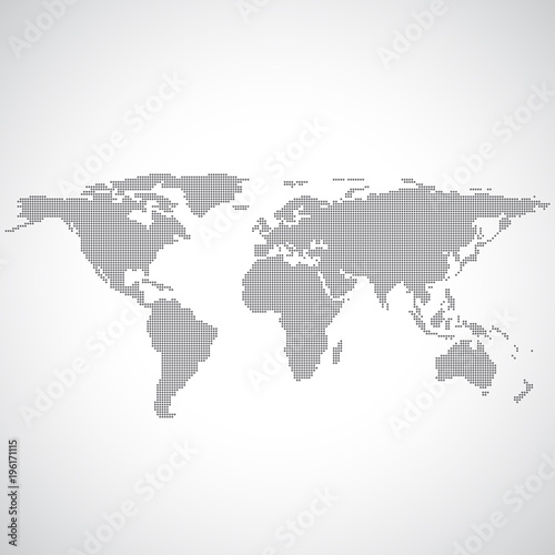 Political world map on grey background in the dots illustration political world map on grey background in the dots illustration gumiabroncs Image collections