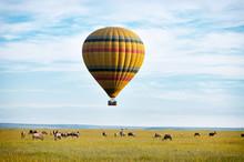 Hot Air Balloon Over The Masai...